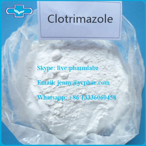 CAS 23593-75-1 Clotrimazole  Product Name:Clotrimazole CAS:23593-75-1 Einecs:245-764-8 Mf:C22H17ClN2 MW:344.84 Purity:99% Grade:Pharmaceutical Grade Appearance:White or Pale Yellow Crystalline Powder  Clotrimazole (brand name Canesten or Lotrimin) is an antifungal medication commonly used in the treatment of fungal infections (of both humans and other animals) such as vaginal yeast infections, oral thrush, and ringworm. It is also used to treat athlete's foot and jock itch.It is on the World…