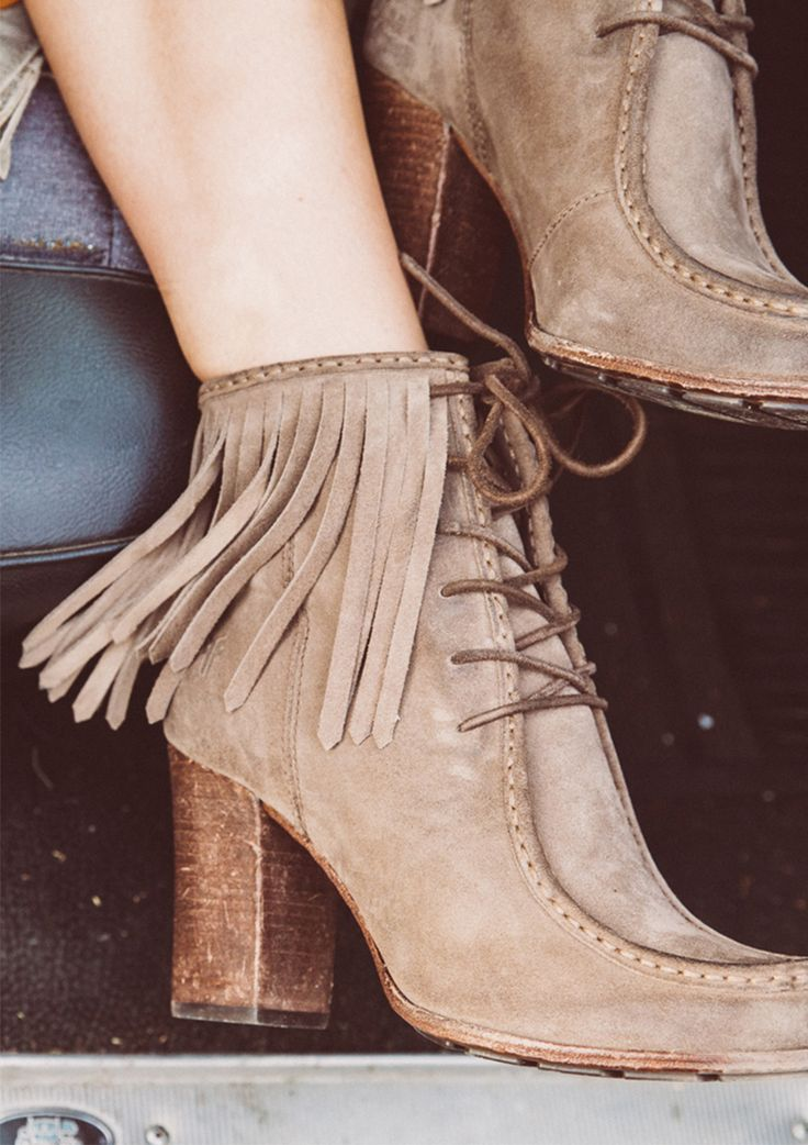 Fringe booties! Make sure to not pass up this retro-inspired trend.