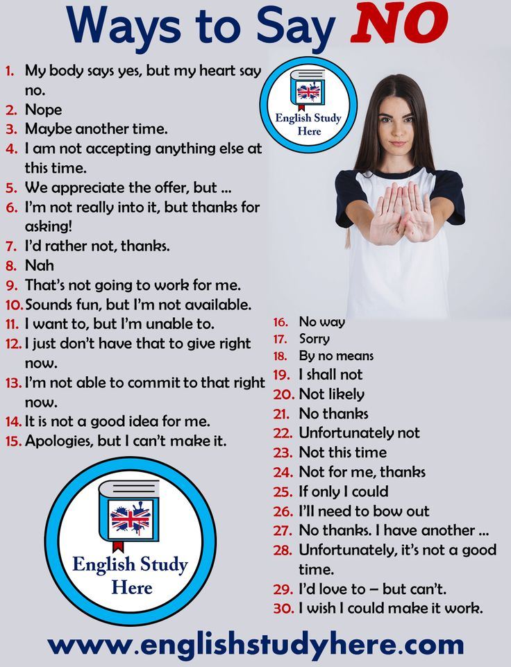 30 Totally different Methods to Say NO in English – English Examine Right here