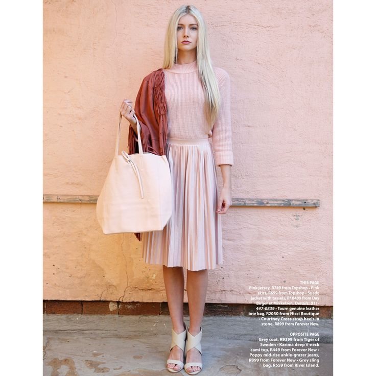 Gorgeous #pink #leather #Nicci bag in the #GetIt magazine