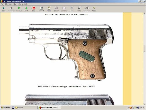 French MAB D pistol - downloadable at HLebooks.com