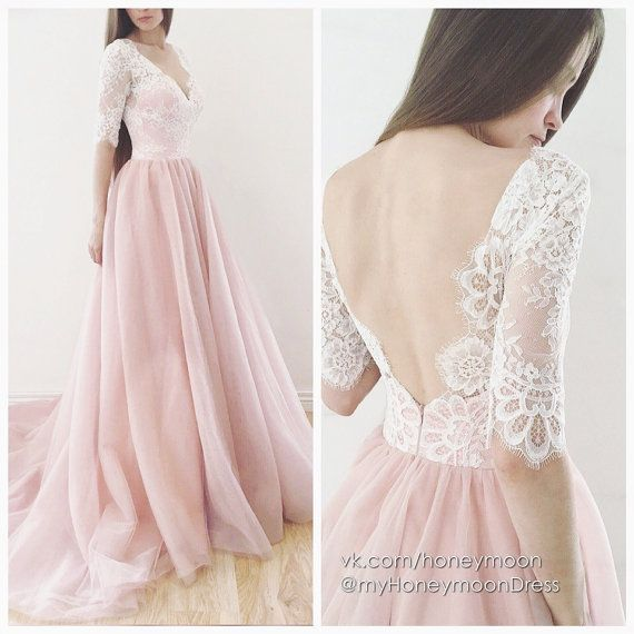 Hey, I found this really awesome Etsy listing at https://www.etsy.com/listing/386196122/espana-wedding-dress-blush-color-dress
