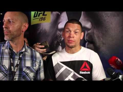 USA TODAY Sports: Nate Diaz UFC 196 open workout media scrum