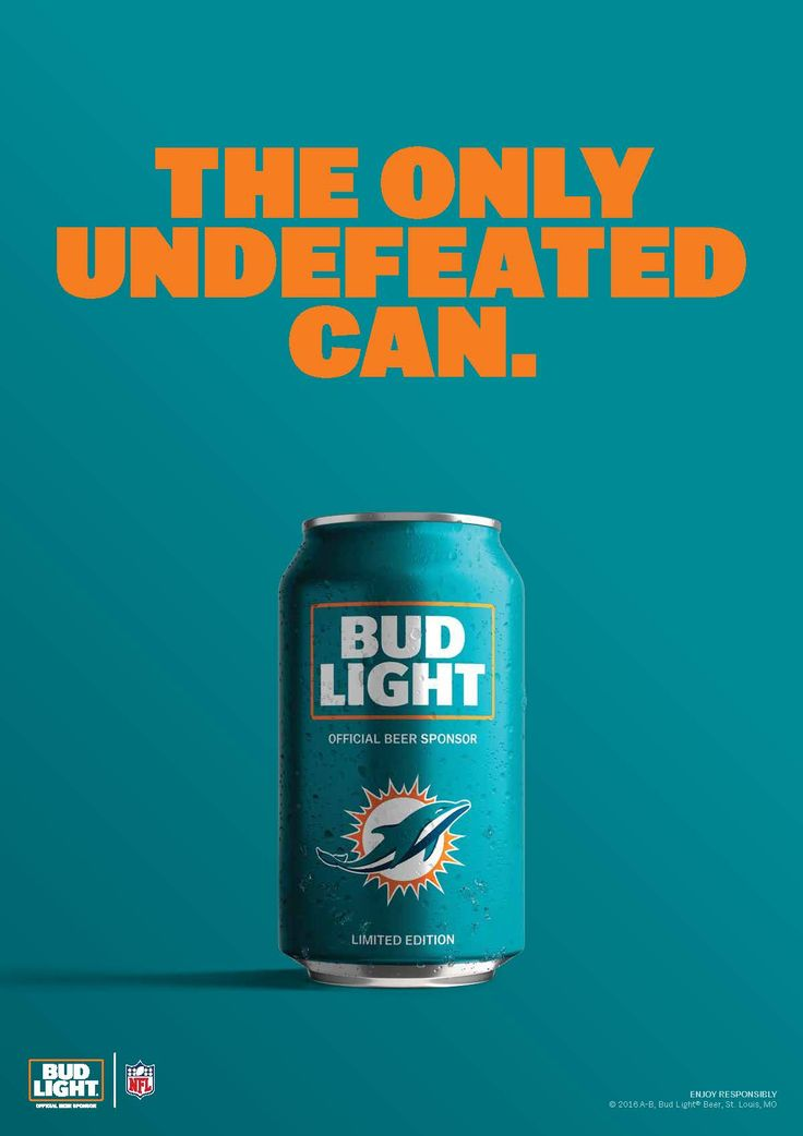 Only one team in NFL history has completed a perfect season: the 1972 Miami Dolphins. For a one-of-a-kind team, here's a one-of-a-kind can.