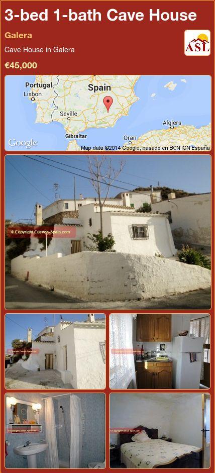 3-bed 1-bath Cave House in Galera ►€45,000 #PropertyForSaleInSpain
