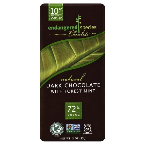 Endangered Species Dark Chocolate, with Forest Mint, 72% Cocoa at Publix