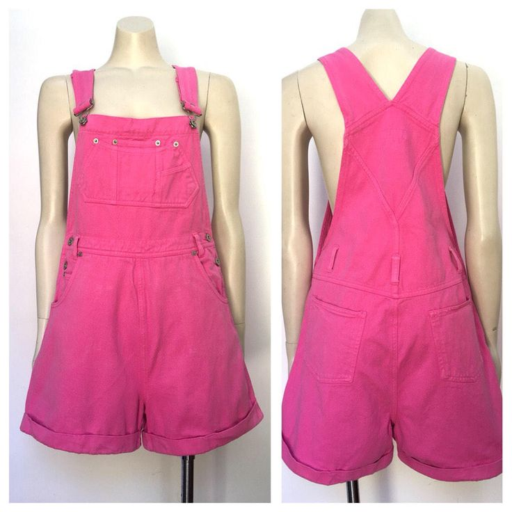 A personal favorite from my Etsy shop https://www.etsy.com/au/listing/569540689/vintage-hot-pink-short-overalls-s-m