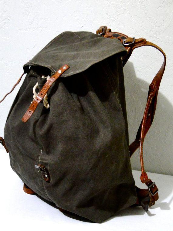 1930s Military Swedish Rucksack Backpack Camping Canvas
