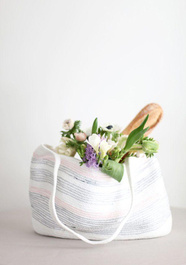 diy tote bag | Style Me Pretty