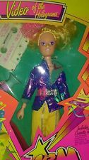 """1986 Hasbro Jem Truly Outrageous! """"Video of the Holograms"""" Doll"""