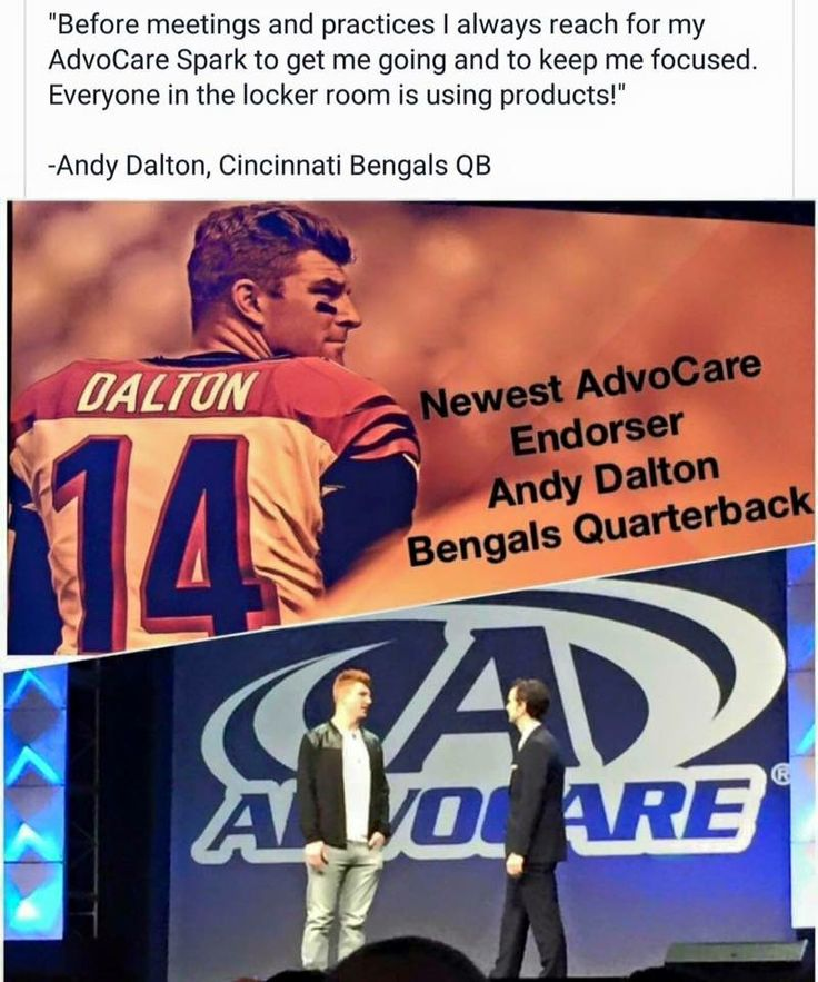 Congratulations to #andydalton on being AdvoCare's newest endorser. #cincinatibengals #neversettle #useittheprosdo #safeandeffective