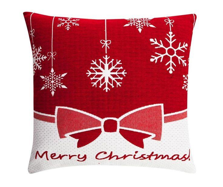 Merry Christmas Bow Red Párnahuzat 50x50 cm - Vivre