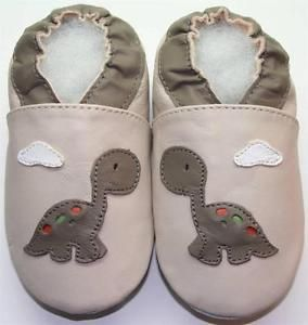 Soft Leather Baby Shoes Little Dino Beige Slippers 12 18M Minishoezoo | eBay