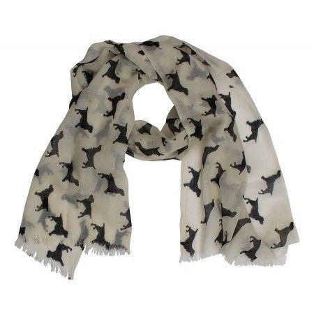 Spaniel Cashmere/wool Scarf - £44.50