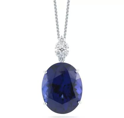 Alberto Collections 74 carat tanzanite pendant