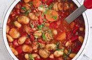 Chunky vegetable and bean goulash