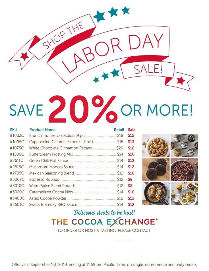 Chocolate Labor Day Sale! chocolateonsale