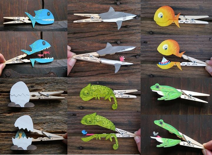 Tuneo de pinzas de ropa para hacer animales y otras - Cosas de madera para hacer ...