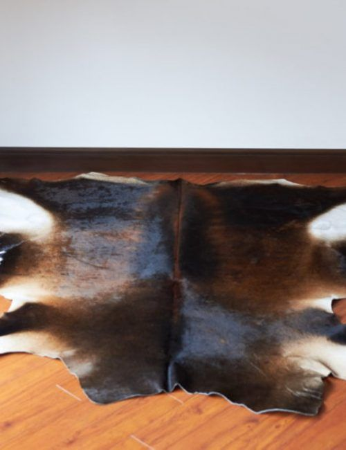 Reddish Brown and Black Cowhide Rug For Sale. Best cowhides by Sevenhillsrug.com #love #shopping