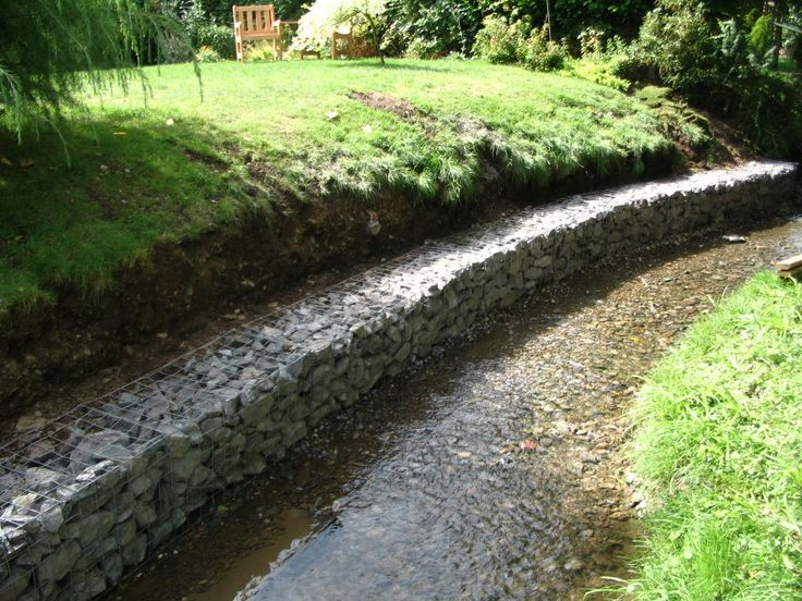 Gabions stream retention gabions pinterest erosion for Gabion landscaping
