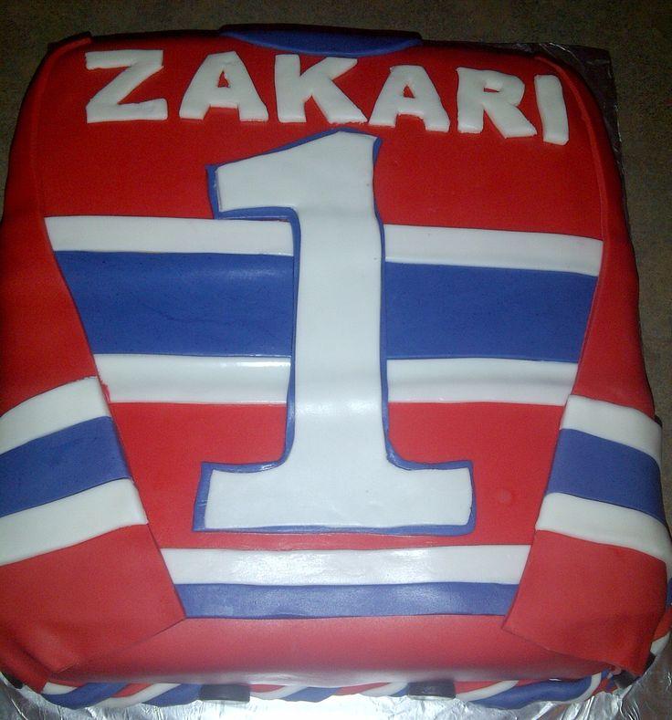 1st Birthday Montreal Jersey Cake