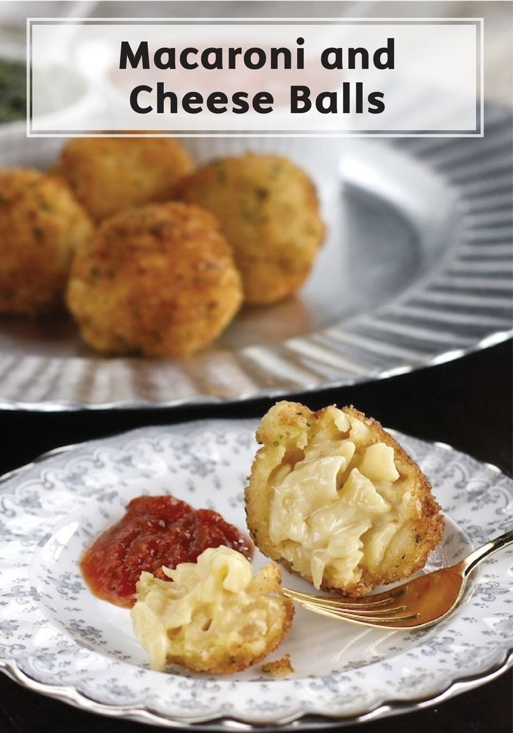 Your kids will especially love this Crispy Macaroni and Cheese Ball appetizer recipe! Serve it with marinara sauce and this tasty finger food is bound to disappear from the appetizer table.