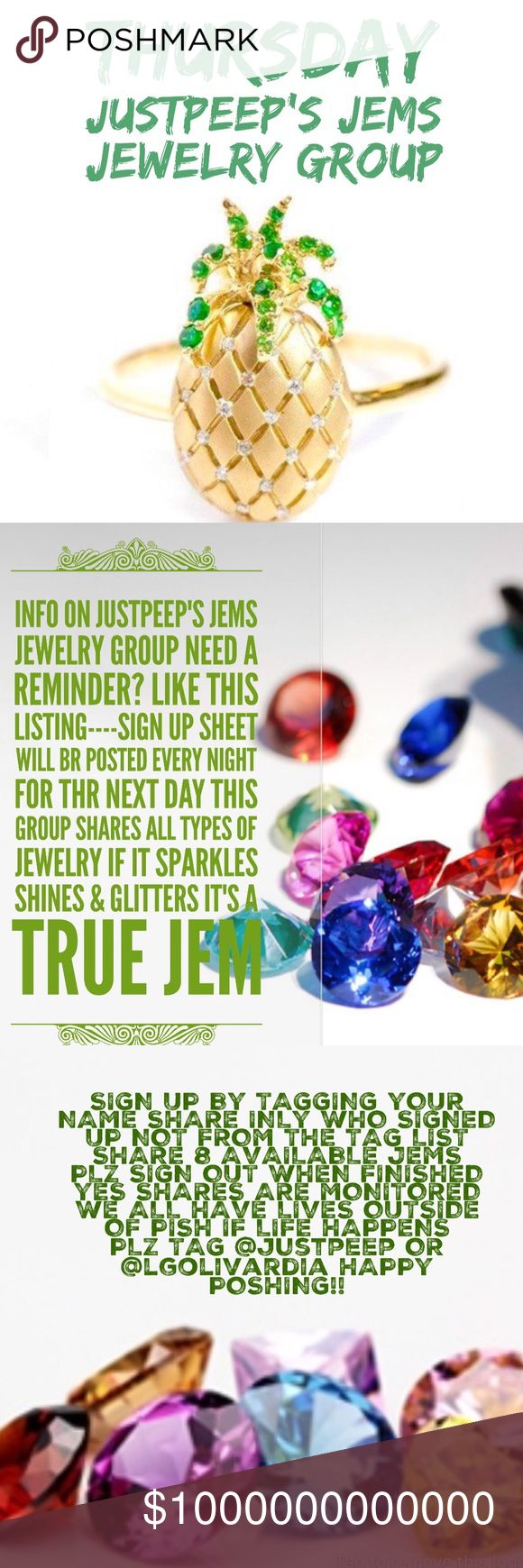 THURSDAY MAY 25 💍WELCOME AND THANK YOU FOR JOINING US TODAY 💍SIGN UP BY TAGGING YOUR NAME  (ex @justpeep) 💍LIKE THIS TO FIND IT EASILY 💍PLZ NO COMMENTS UNTIL GROUP CLOSES @3PM EST/2PM CST/1PM MST/12PM PST 💍NO EARLY SHARING 💍SHARES ARE MONITORED 💍PLZ SIGN OUT WHEN ALL SHARES ARE COMPLETED BY 12AM YOUR TIME 💍 IF A POSHER DOESN'T HAVE 8 PLZ REPEAT   💍HAVE CONCERNS OR QUESTIONS PLZ TAG @justpeep OR lgolivardia IN Q & A 💍TO FIND ANY LISTING REGARDING THE GROUP AND Q & A CLICK CATEGORY…