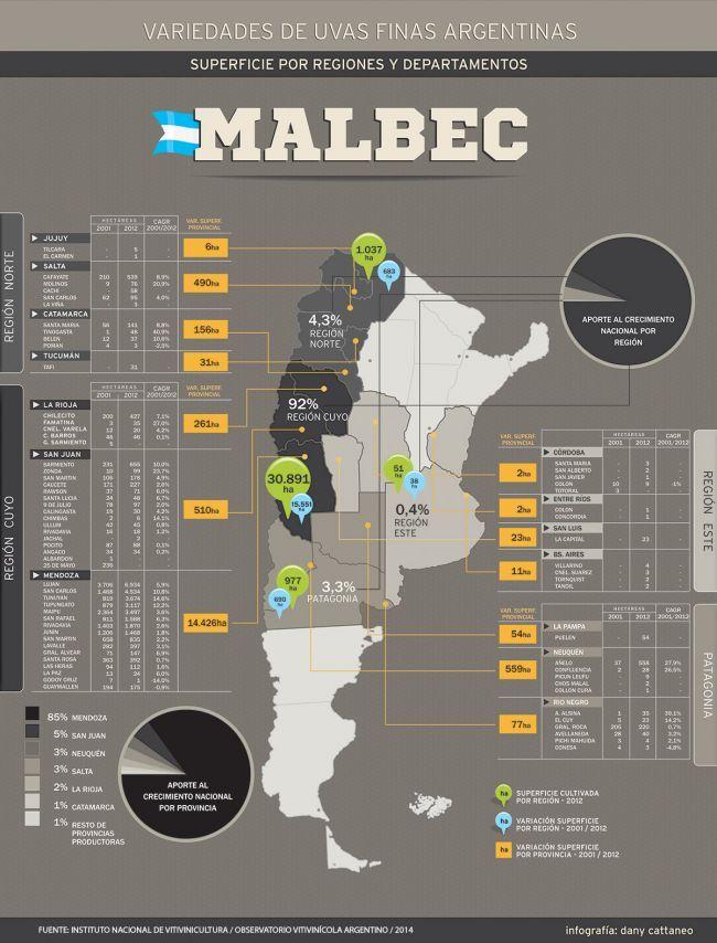 Argentina y el Malbec por regiones