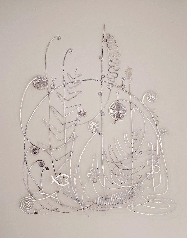 Collection Online | Alexander Calder. Silver Bed Head. winter 1945–46 - Guggenheim Museum