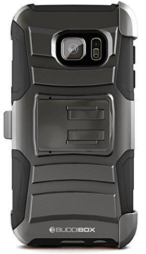 Galaxy S7 Case BUDDIBOX [HSeries] Heavy Duty Swivel Belt Clip Holster with Kickstand Maximal Protection Case for Samsung Galaxy S7 (Black)