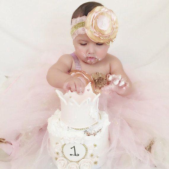Pink & Gold Tutu Dress by DBellaDesignsKids on Etsy