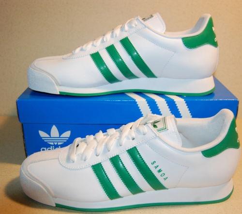 new product 4f393 02297 New Adidas Samoa WhiteGreen Original Athletic Shoes Mens (12