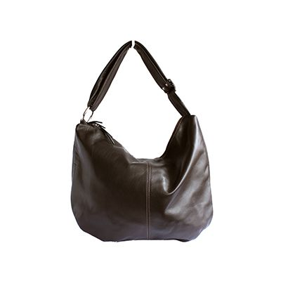Sabrina Dark Brown Italian Leather Hobo Bag - £64.99