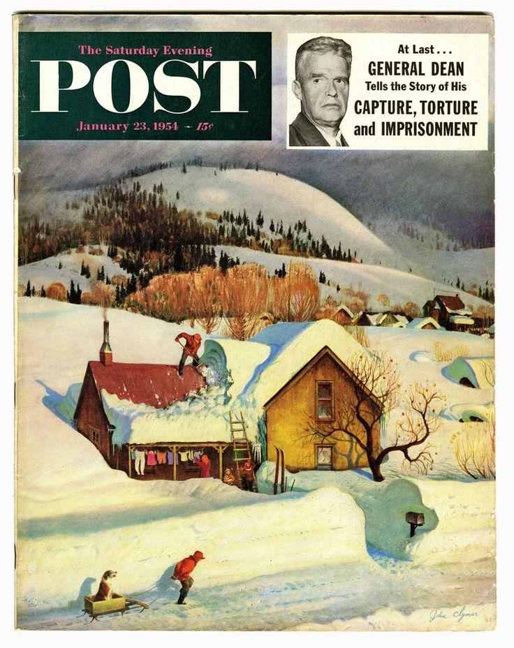 Imprisoned By Snow 1954; illustration by John Clymer.