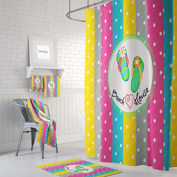 Shower Curtain Beach Theme Beach House Decor Beach House