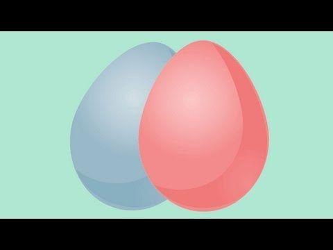 Experimentos para niños. Cómo hacer huevos de colores - YouTube