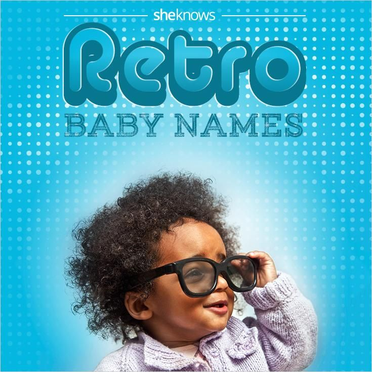 You won't see a ton of kids with these names on the playground but these retro baby names are so cool!