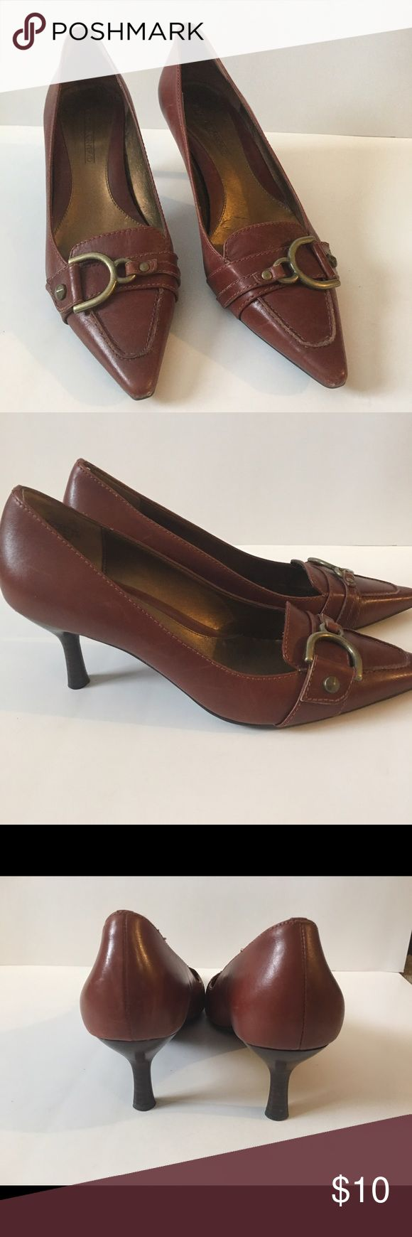 ✅Brown Buckled Heels Great condition. No tears or noticeable marks! Joan & David Shoes Heels