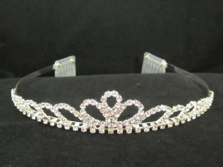 Rhinestone  morning  glory  tiara - $10.95  each For  more  info  please  contact - Shoot  for  the  Moon  Jewelry  Designs (850) 230-9983 #bridaltiaras #Tiaras #rhinestones
