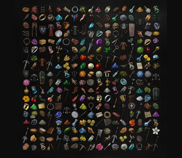 ArtStation - THE WITCHER 3 UI ART: ICONOGRAPHY, Fernando Forero