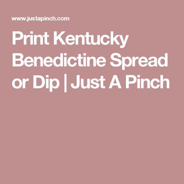 Print Kentucky Benedictine Spread or Dip | Just A Pinch