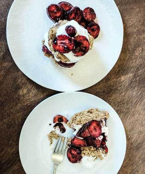 Healthy, Vegan Strawberry Shortcake