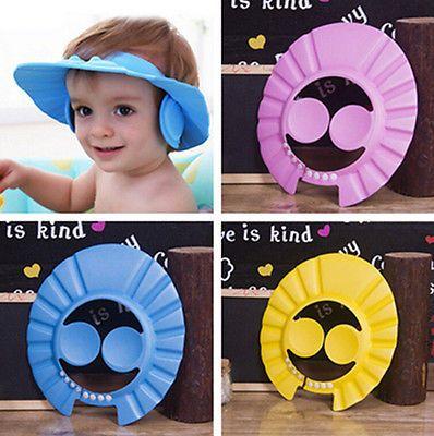 2016 Adjustable Baby Hat Toddler Kids Shampoo Bathing Shower Cap Wash Hair Shield Direct Visor Caps For Childre