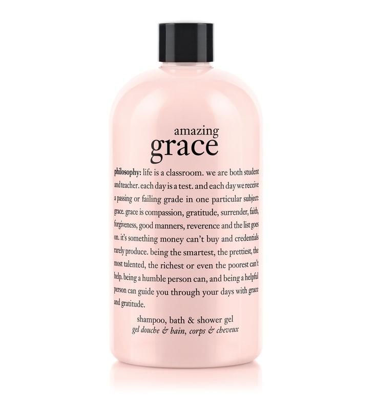 amazing grace | perfumed shampoo, bath & shower gel | philosophy bath & shower gels