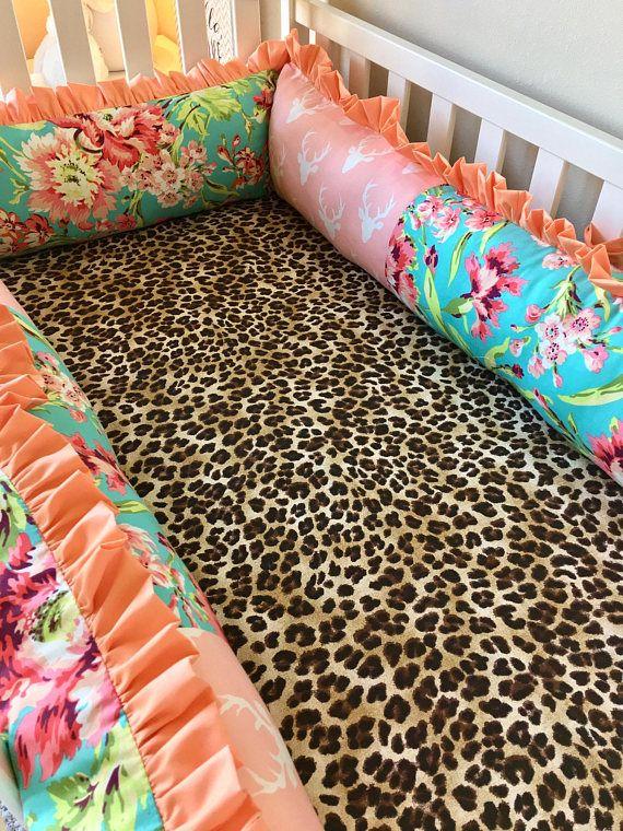 Girl Crib Bedding Baby Girl Crib Sets Stag and Leopard Crib
