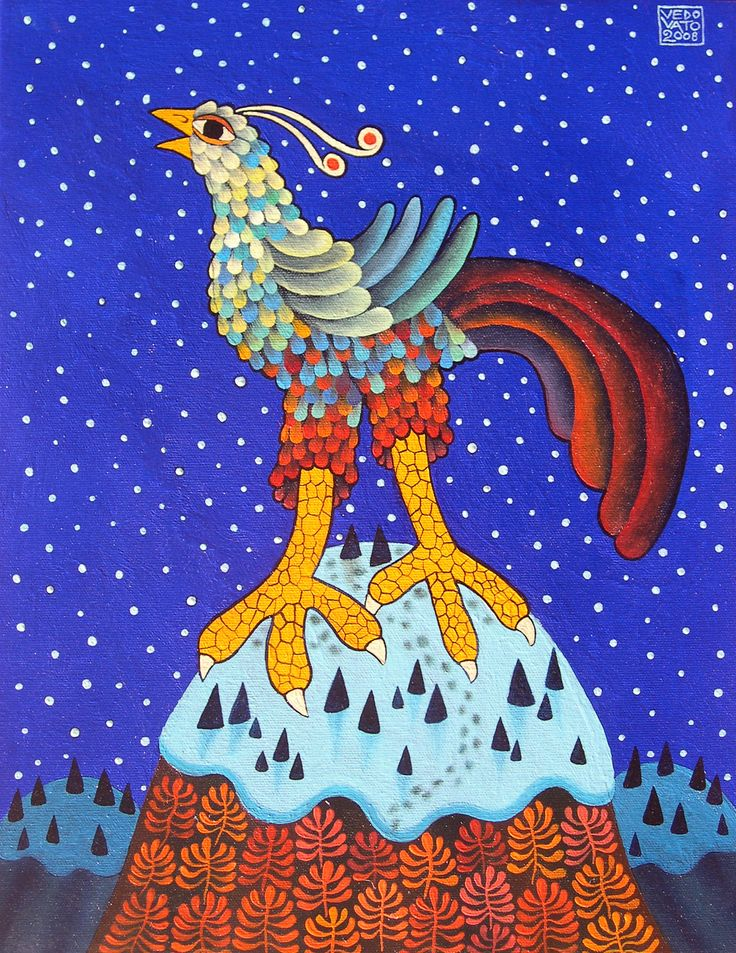 Guido Vedovato, Bird's Song for the First Snow, 2008, Oil on canvas, 45X35cm
