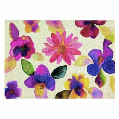 Floor Couture - watercolour floral rug