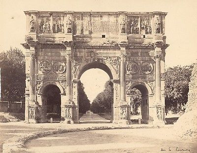 Roma-Constantin-Arch-Architectural-Italy-Old-Photo-1890-Arc-Triomphe-Italie
