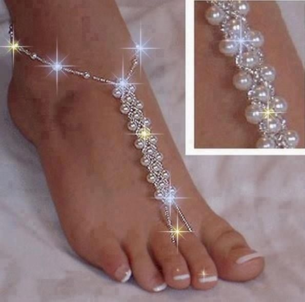 Beaded Barefoot Sandal! What I will be waring on my wedding day!!