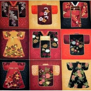 Kimono quilting fabric block